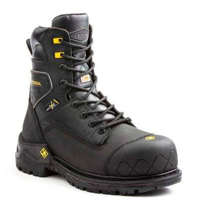 Sawtooth Met Men's Size 12 Black Leather Work Boot