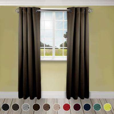 Heavy Duty Drapery 52 in. W x 84 in. H Panel in Taupe