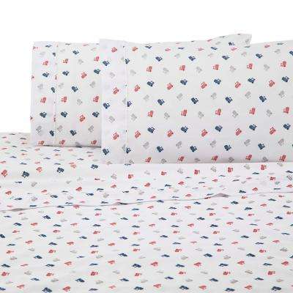 Novelty Multi Polyester Queen Sheet Set