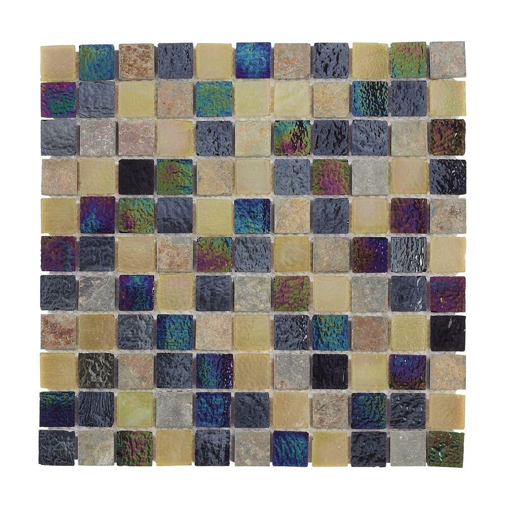 Jeffrey Court Himalayan Slate Glass 12 in. x 12 in. Wall Tile-DISCONTINUED