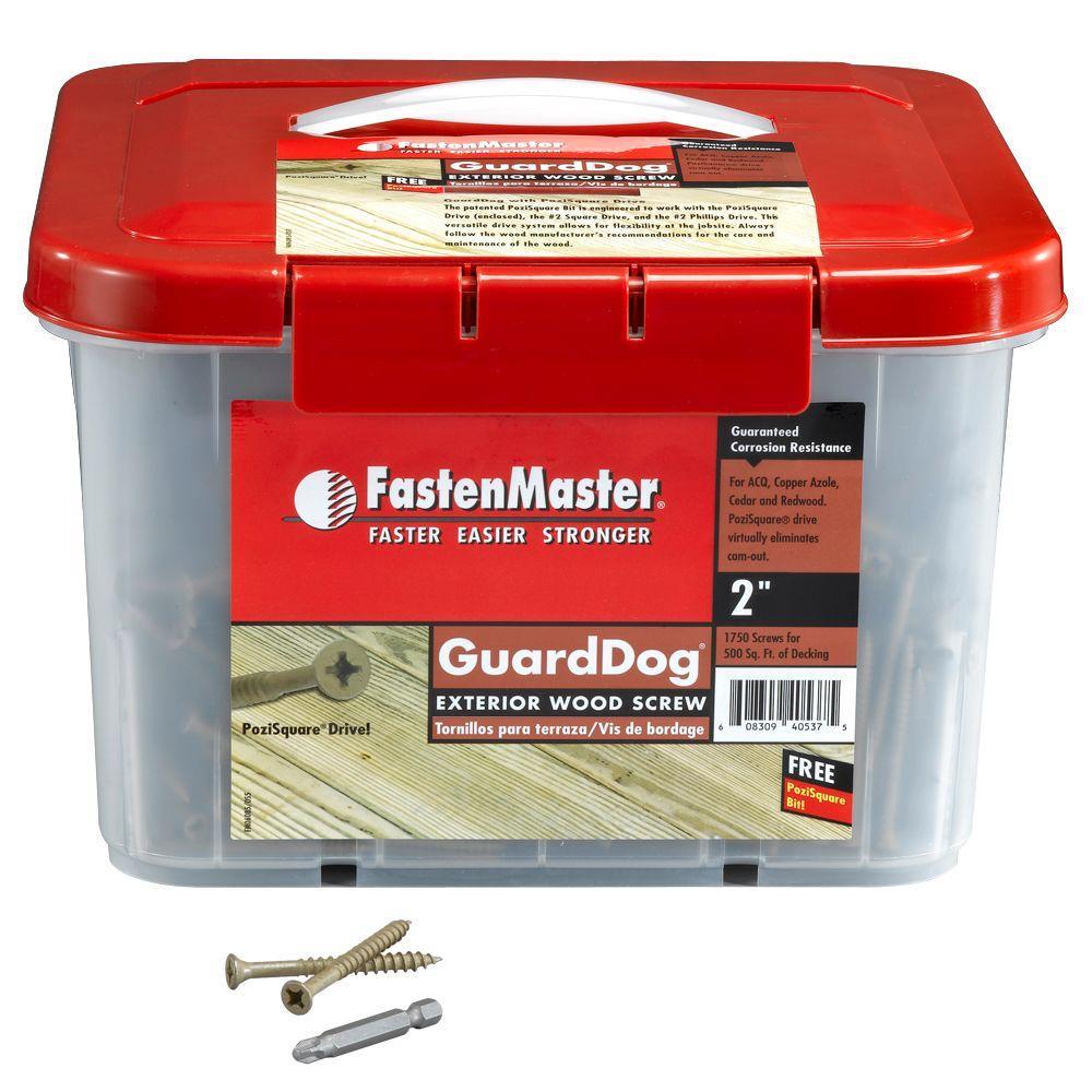 FastenMaster Guard Dog 2 in. Wood Screw (1750 per Pack)