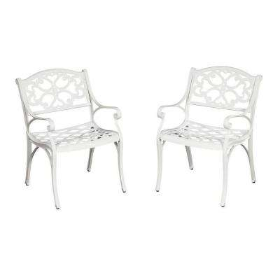 Biscayne White Patio Dining Chair (2-Pack)
