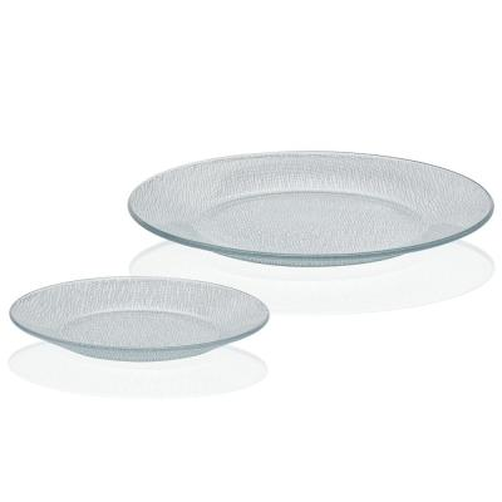 Yute Dinnerware 12-Piece Contemporary Clear Glass Dinnerware Set (Service for 6)