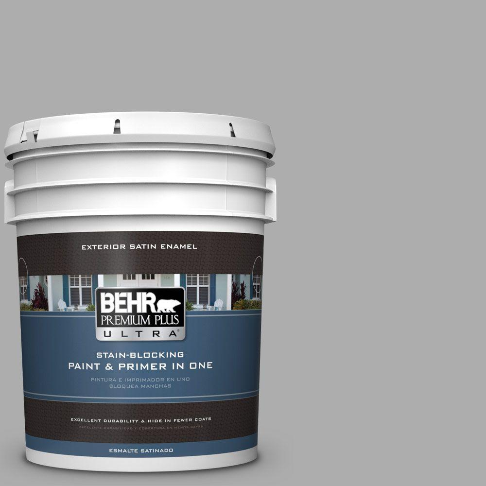 5 gal. #HDC-NT-27A Soft Pebble Satin Enamel Exterior Paint