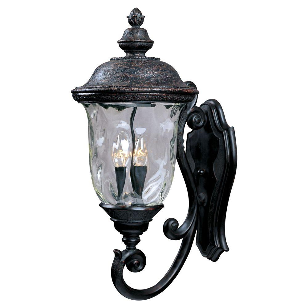Maxim Lighting Carriage House Dc 3 Light Oriental Bronze Outdoor Wall Lantern Sconce