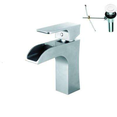 Single Hole 1-Handle Bathroom Faucet in Polished Chrome with Pop-Up Drain