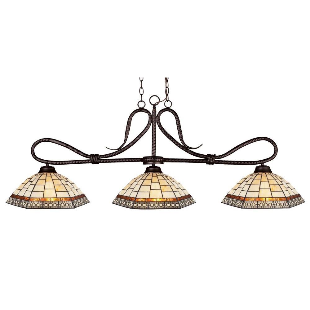 Filament Design Cape 3-Light Bronze Island Light