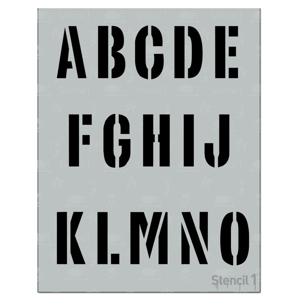 Letters & Alphabets - Stencils - Craft & Art Supplies - The Home Depot