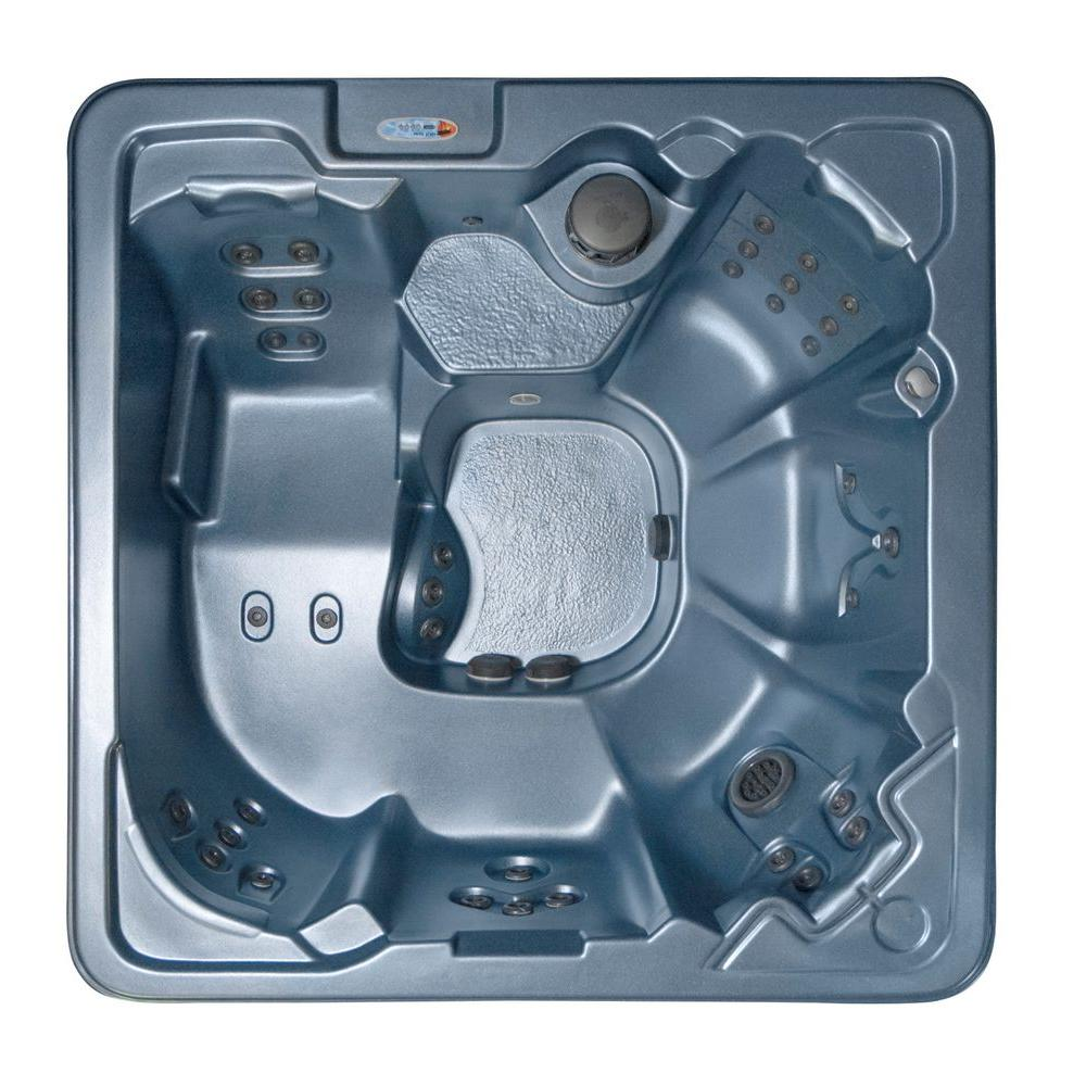 QCA Spas Palmero 7-Person 53-Jet Spa with Ozonator, LED Light, Polar Insulation, Collar Jets and Hard Cover