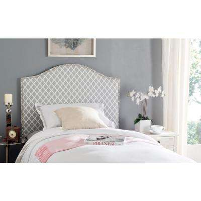 Connie Grey and White Twin Headboard