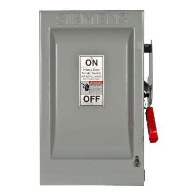 Heavy Duty 60 Amp 600-Volt 2-Pole Indoor Fusible Safety Switch