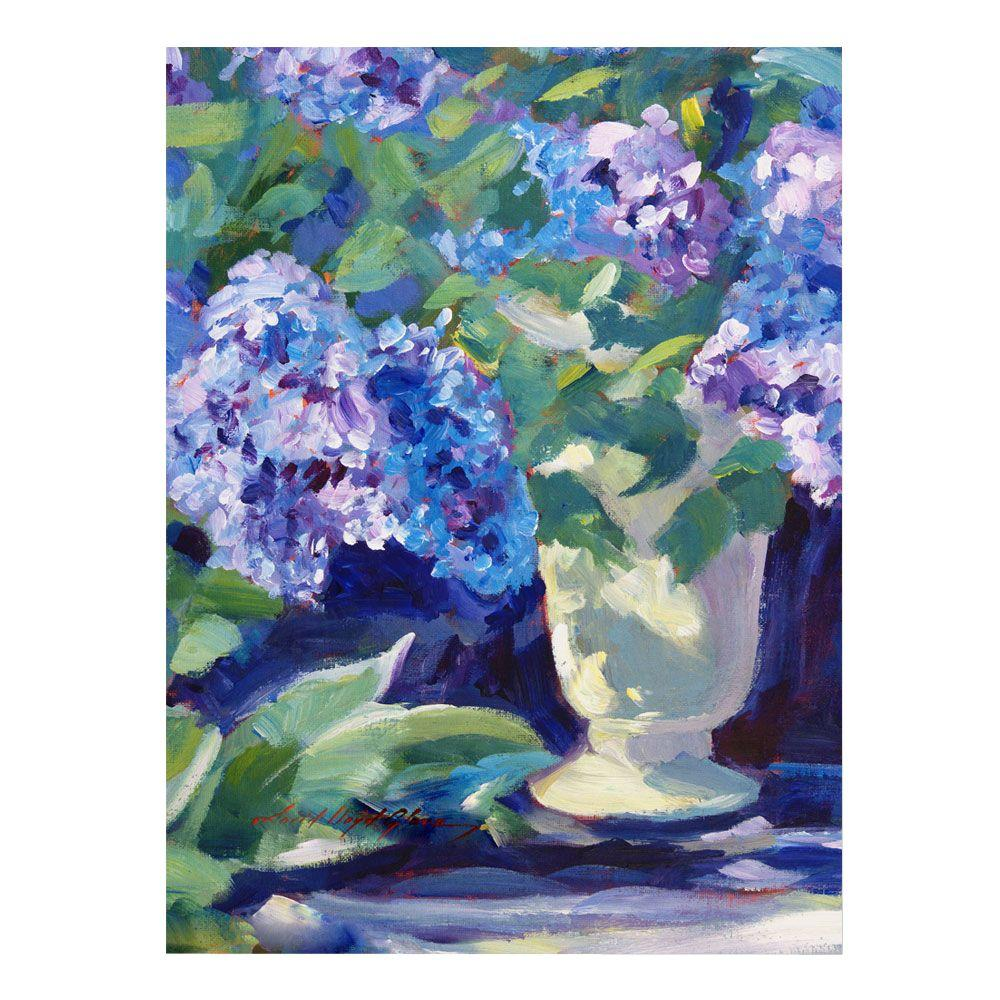 24 in. x 32 in. Lavendar Hydrangeas Canvas Art