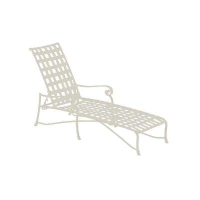 Vallero Crossweave Contract Antique Bisque Patio Chaise Lounge