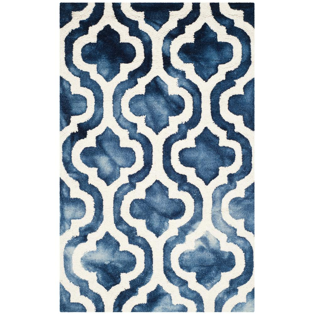 Dip Dye Navy/Ivory (Blue/Ivory) 3 ft. x 5 ft. Area Rug