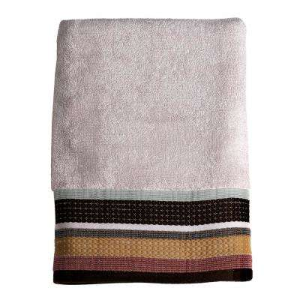 Jessen Stripe Cotton Bath Towel in Natural