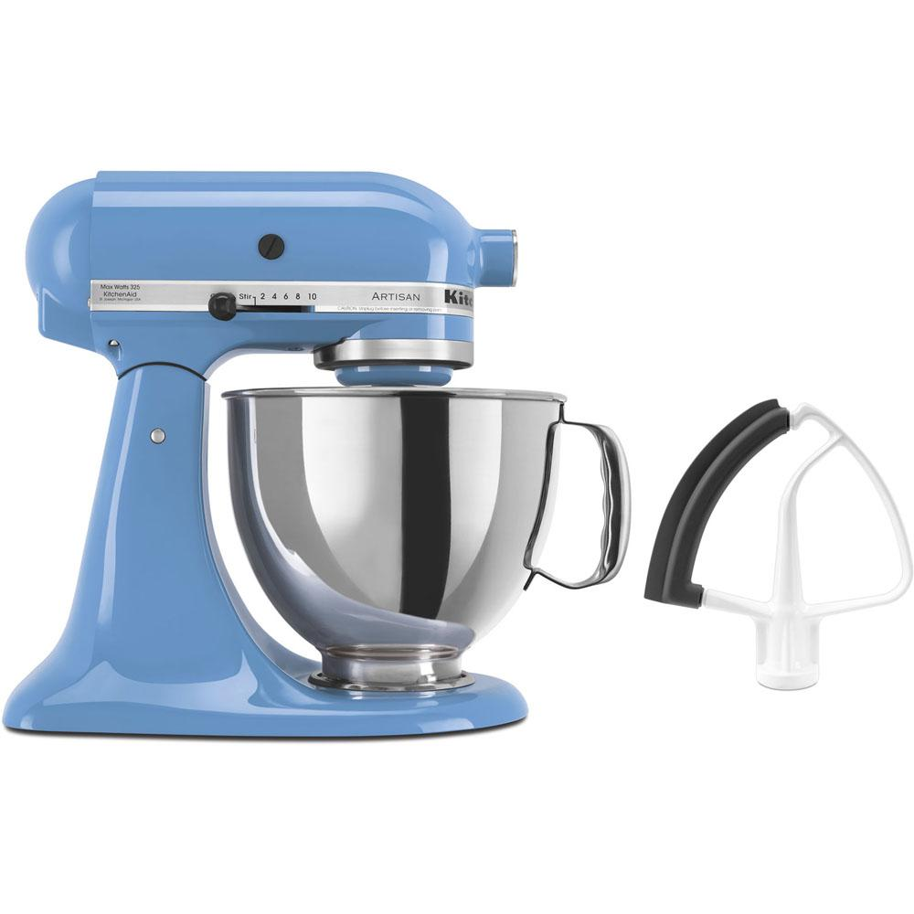 KitchenAid Artisan Series 325 Watt Tilt Back Head Cornflower Blue Stand  Mixer And Flex