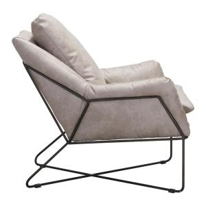 Excellent Zuo Finn Distressed Gray Lounge Chair 101003 The Home Depot Unemploymentrelief Wooden Chair Designs For Living Room Unemploymentrelieforg