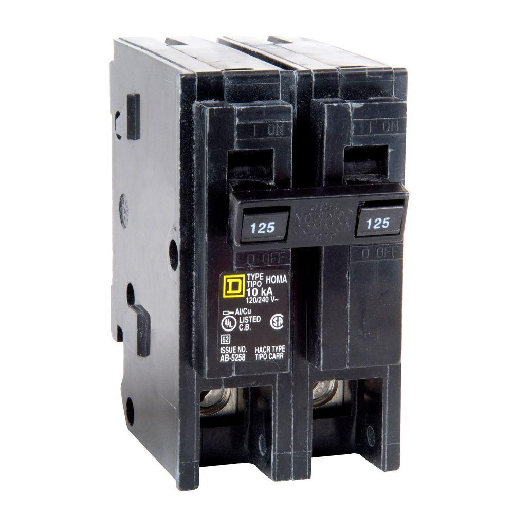 square d homeline 125 amp 2 pole circuit breaker hom2125cp. Black Bedroom Furniture Sets. Home Design Ideas