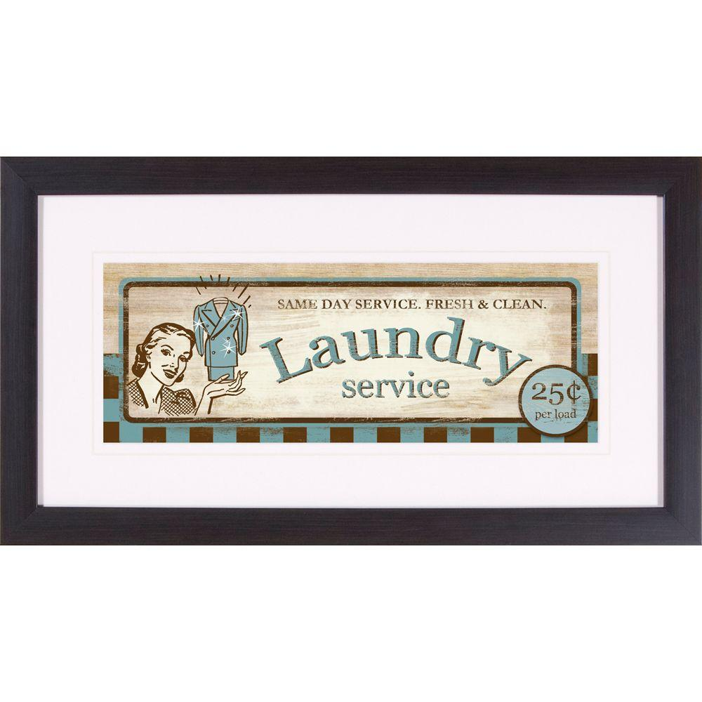 """null 22 in. x 12 in. """"Laundry Service A"""" Framed Wall Art"""