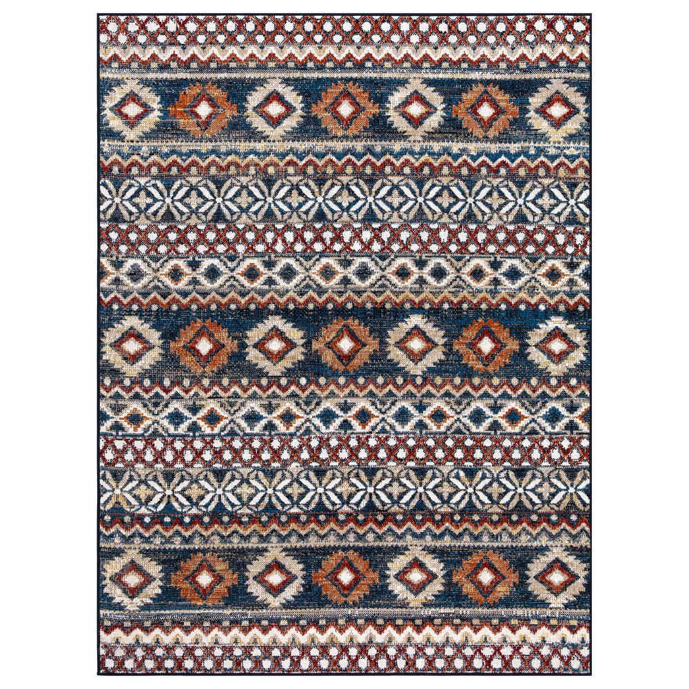 StyleWell Rosalynn Navy/Multi-Color 5 ft. x 7 ft. Global Low Pile Area Rug, Navy / Multi-Color was $64.52 now $38.71 (40.0% off)