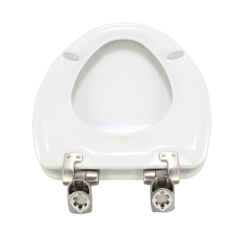 Stupendous Bemis Slow Close Elongated Closed Front Toilet Seat In White Machost Co Dining Chair Design Ideas Machostcouk