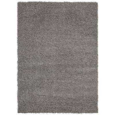 Cozy Shag Collection Grey 7 ft. 10 in. x 9 ft. 10 in. Indoor Area Rug