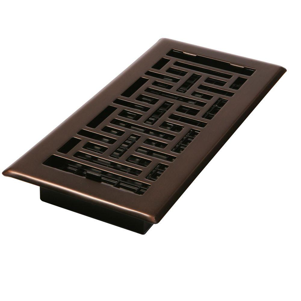 Decor Grates 2 1 4 In X 12 In Steel Floor Register