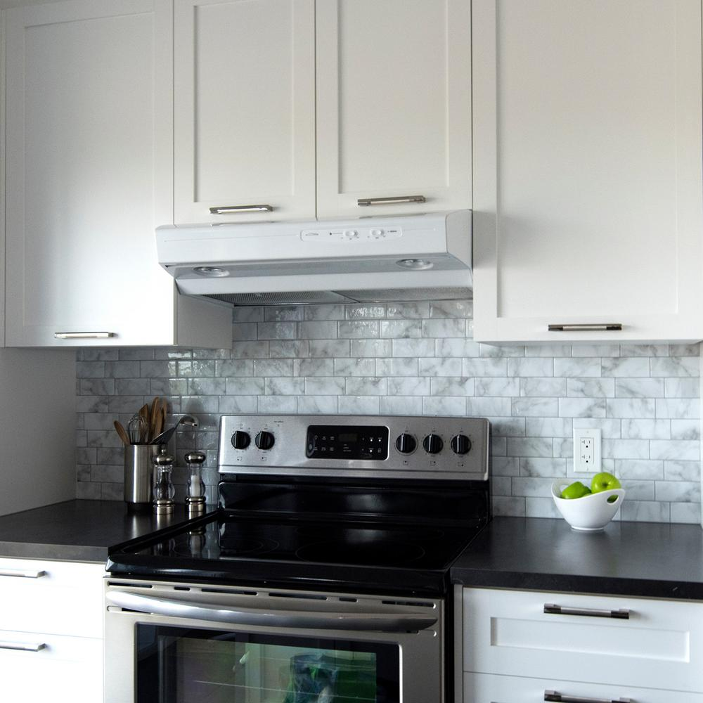 stick on kitchen backsplash Smart Tiles Metro Carrera 11.56 in. W x 8.38 in. H Gray Peel and  stick on kitchen backsplash