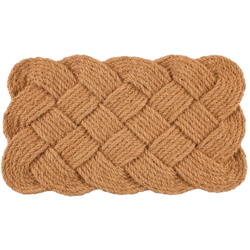 Knot-Ical 18 in. x 30 in. Hand Woven Coconut Fiber Door Mat