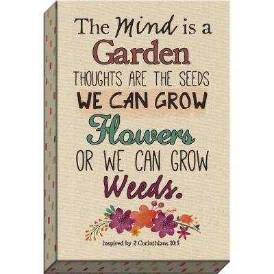 """Scripture Garden """"The Mind Is A Garden Natural Canvas"""" By Carpentree Natural Canvas"""