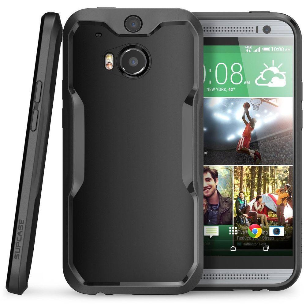 SUPCASE Unicorn Beetle Hybrid Bumper Case for HTC One M8, Black/Black by