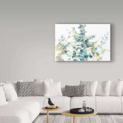 """30 in. x 47 in. """"Eucalyptus I White Crop"""" by Danhui Nai Printed Canvas Wall Art"""