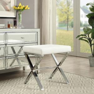 Phenomenal Carolina Cottage Elisabetta White Tufted Vanity Bench Vb1620 Bralicious Painted Fabric Chair Ideas Braliciousco