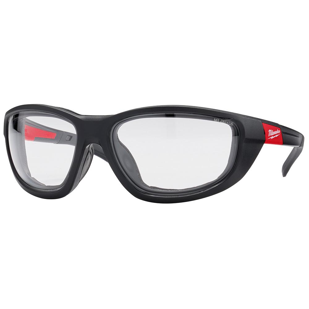 Milwaukee Milwaukee High Performance Safety Glasses with Clear Lenses and Gasket