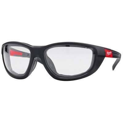 High Performance Safety Glasses with Clear Lenses and Gasket
