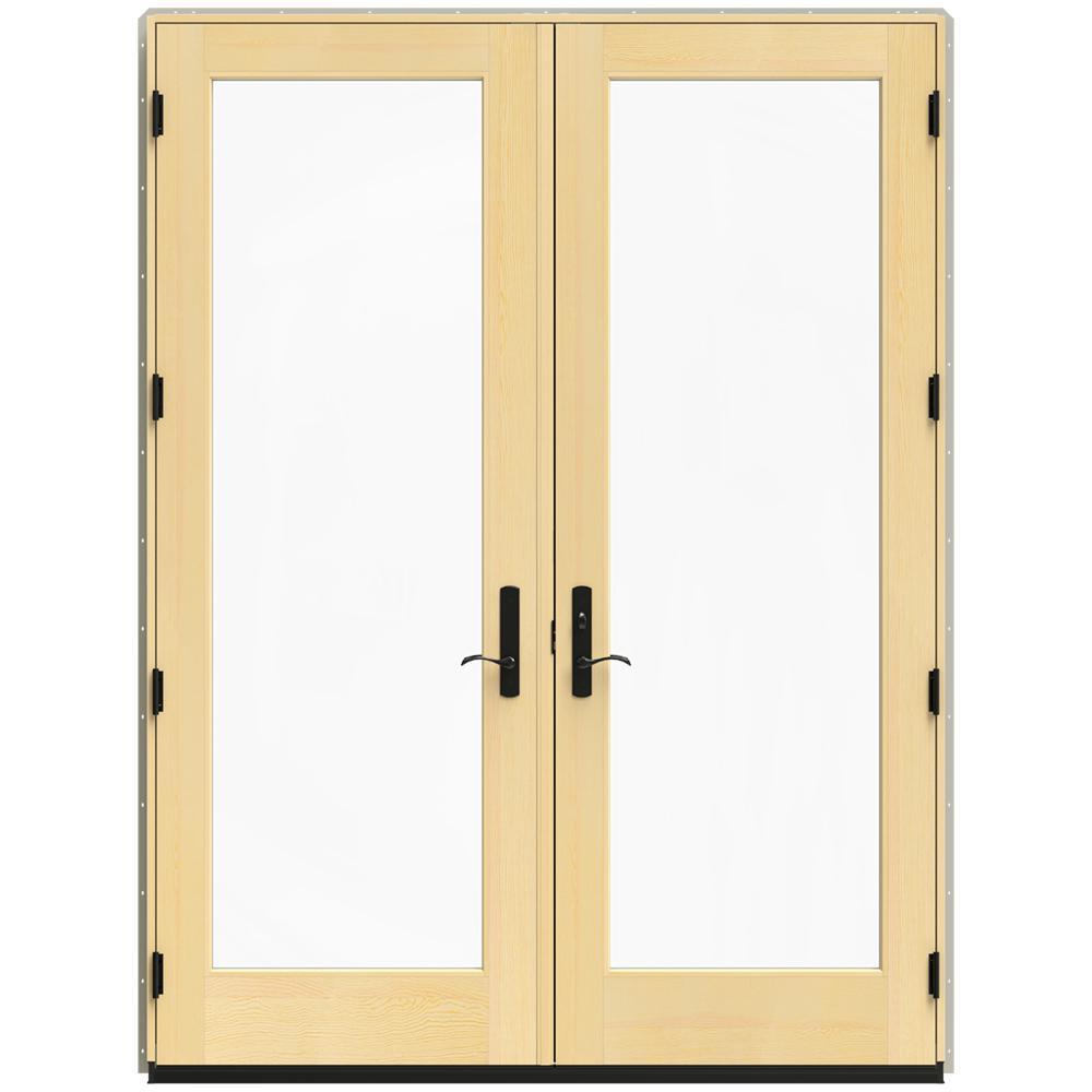 71.25 in. x 95.5 in. W-4500 Desert Sand Left Hand Inswing French Wood Patio Door