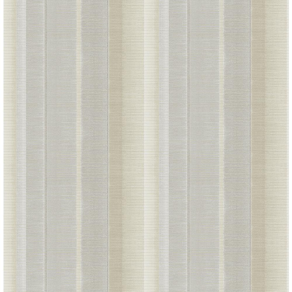 Flat Iron Silver Stripe Wallpaper
