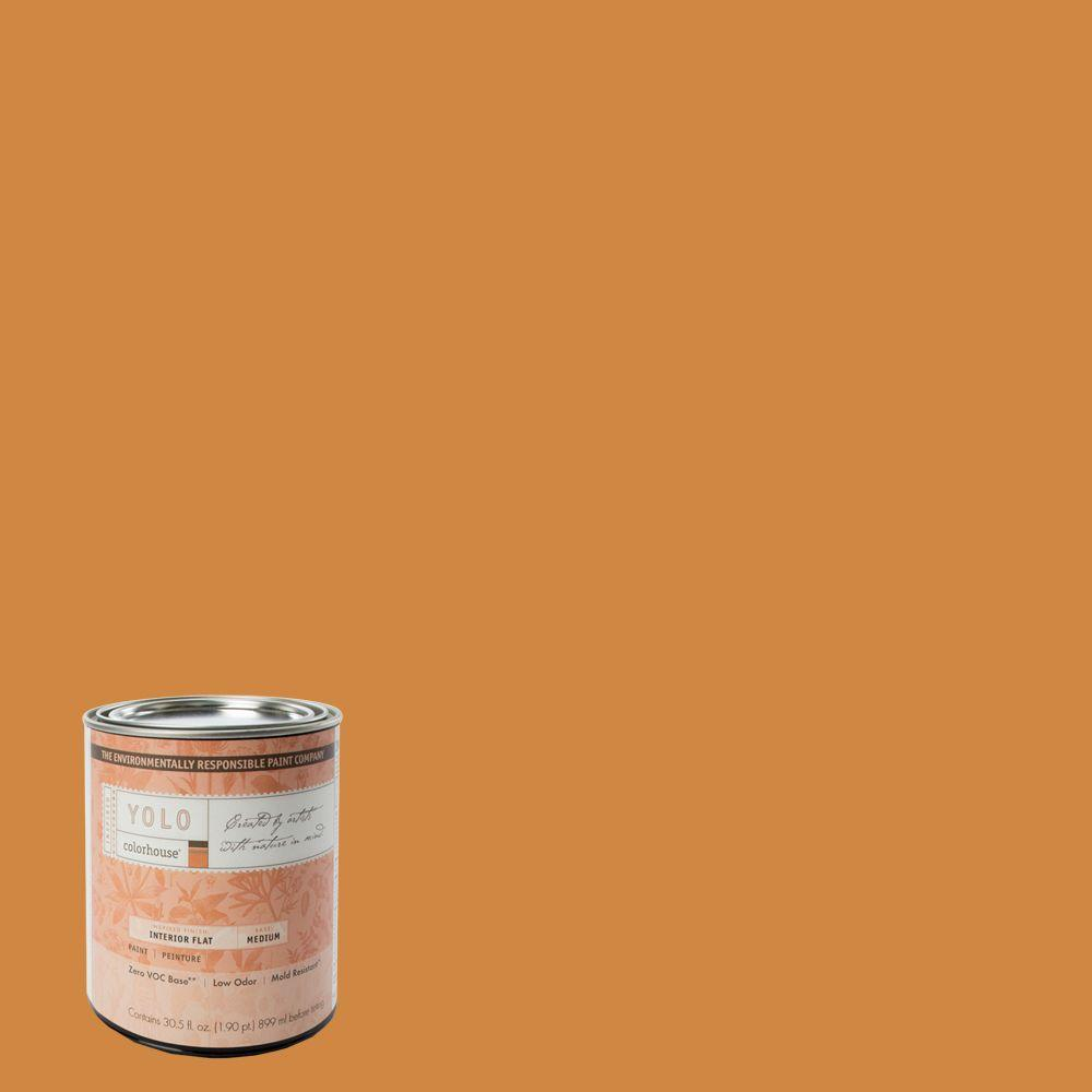 YOLO Colorhouse 1-Qt. Clay .02 Flat Interior Paint-DISCONTINUED