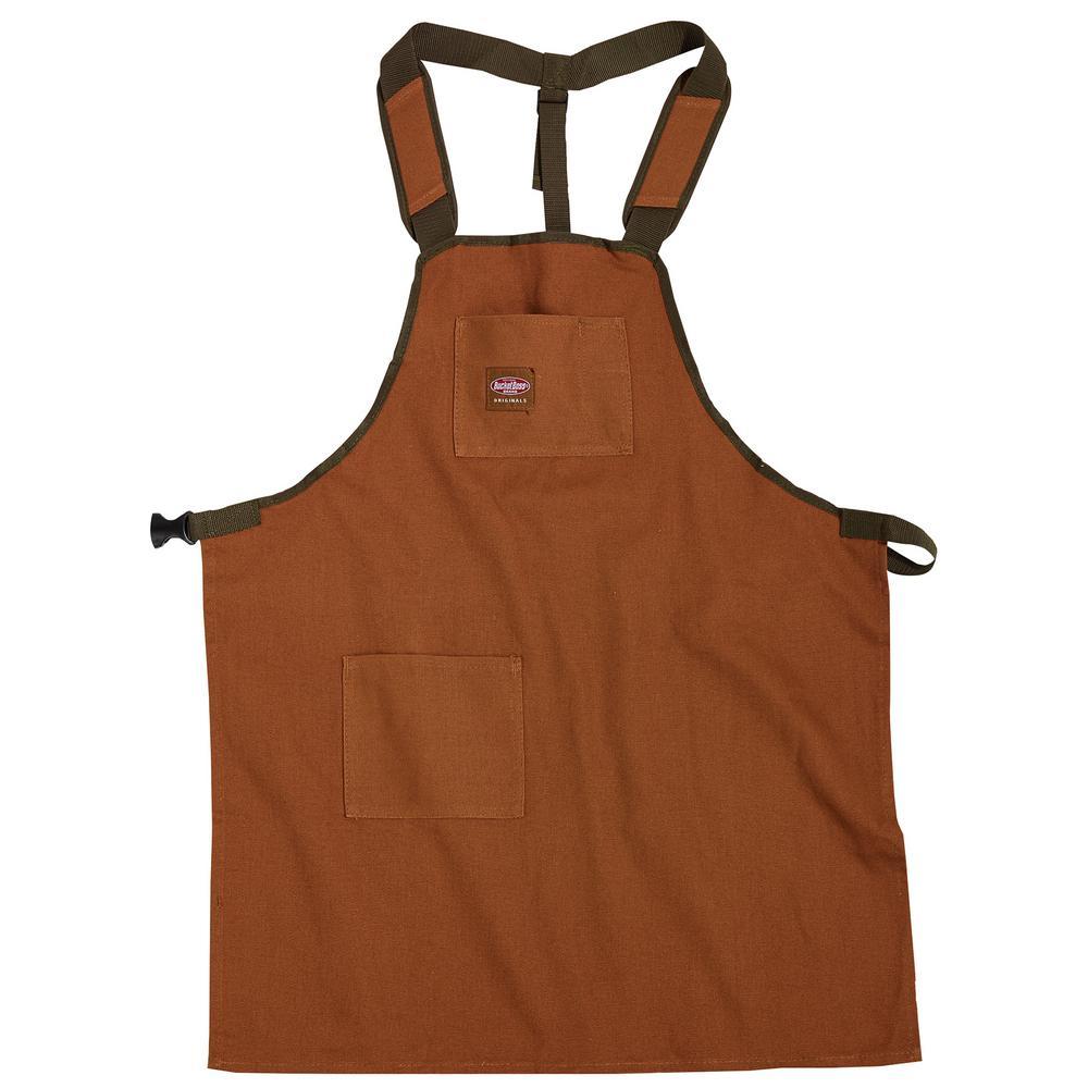 3-Pocket Super Shop Apron in Brown