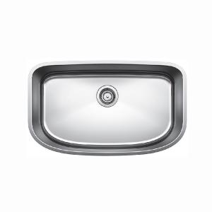 Undermount Stainless Steel 30 in. x 18 in. Single Bowl Kitchen Sink in Satin Polished