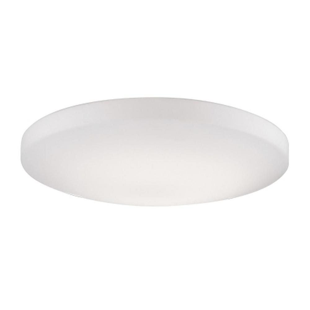 Mariah 60-Watt Equivalence White Integrated LED Ceiling Flushmount