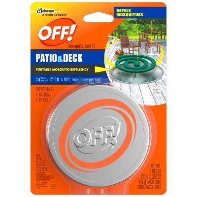 1.059 oz. Mosquito Coil IV (Pack of 3/6 per Case)