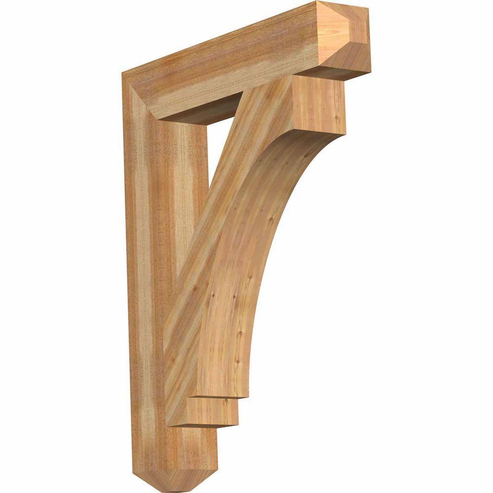6 in. x 42 in. x 34 in. Western Red Cedar Imperial Craftsman Rough Sawn Bracket