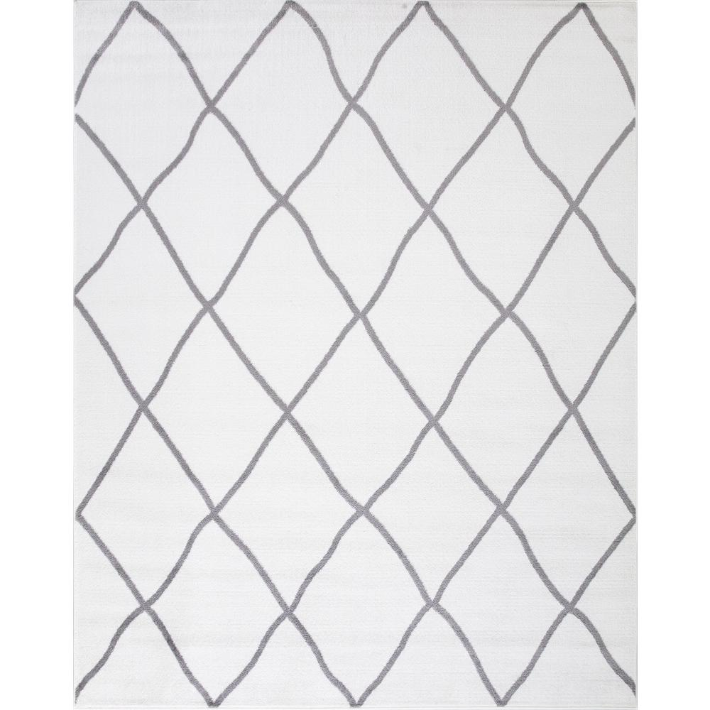 Concord Global Trading Concord Global Trading Madison Collection Diamond Ivory 5 ft. 3 in. x 7 ft. 3 in. Area Rug