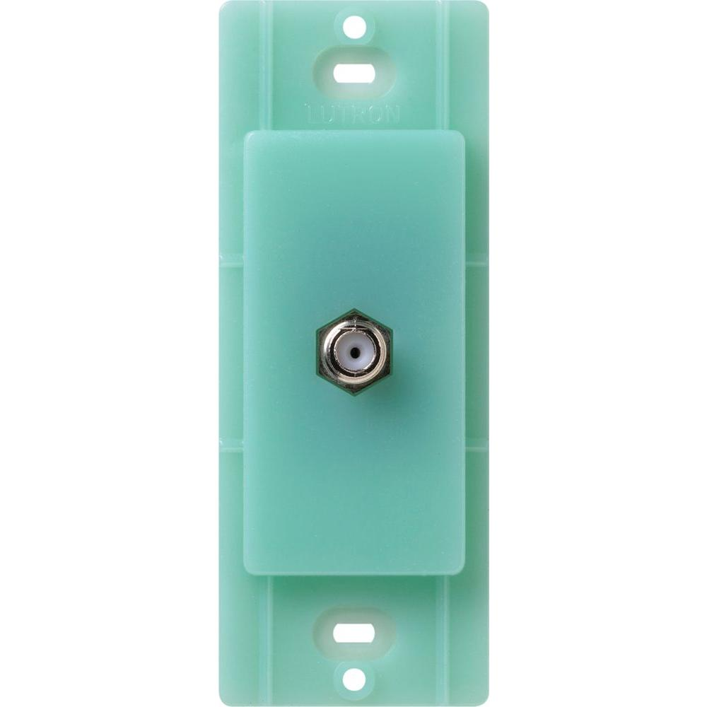 Lutron Satin Colors Coaxial Cable Jack - Sea Glass
