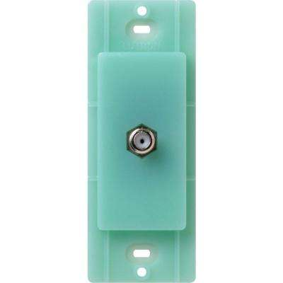 Satin Colors Coaxial Cable Jack - Sea Glass
