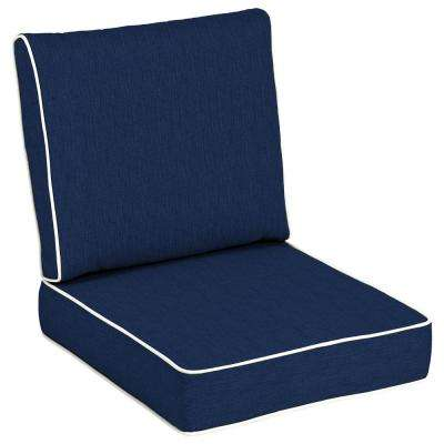 Sunbrella Spectrum Indigo Deep Seating Outdoor Lounge Chair Cushion