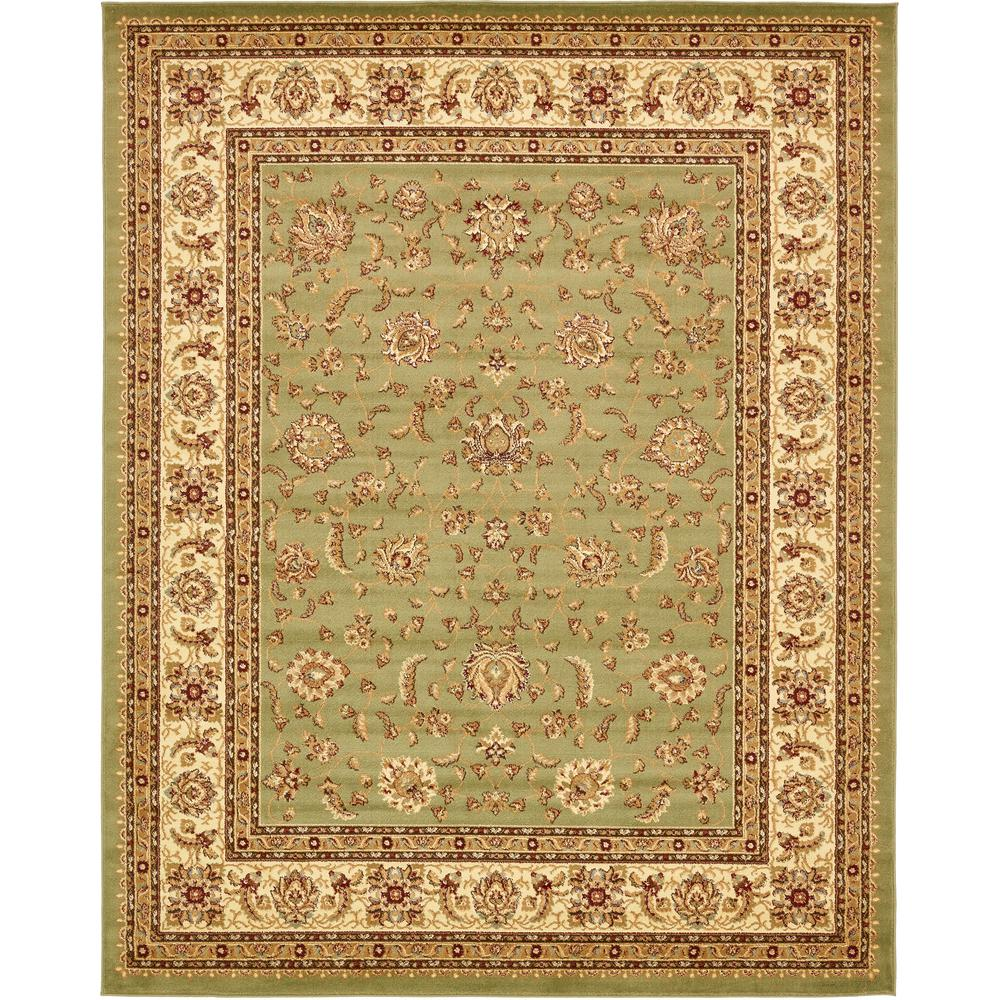 Unique Loom Agra Green 8 Ft X 10 Ft Area Rug 3132913
