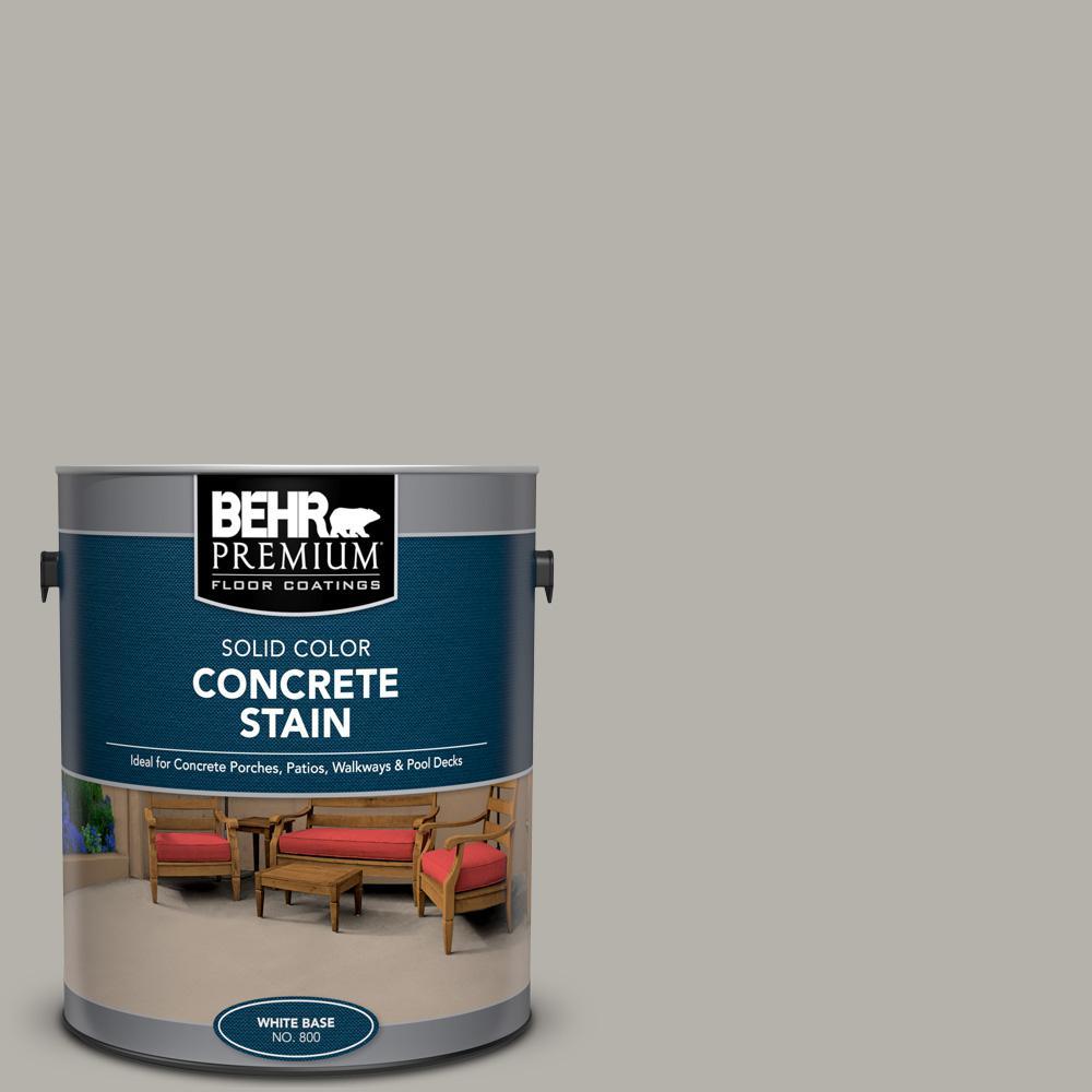 BEHR PREMIUM 1 gal. #PFC-67 Mossy Gray Solid Color Flat Interior/Exterior Concrete Stain