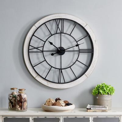 27 in. Timeworn Farmhouse Clock